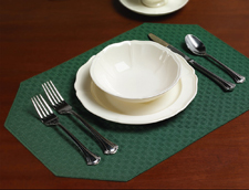 Lattice placemats by Milliken